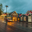 Evening street scene in Reykjavik, Iceland — Stock Photo #40209041