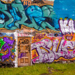 Colourful mural painted on a building in Reykjavik — Stock Photo #40210833