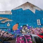 Street art in Reykjavik, Iceland — Stock Photo