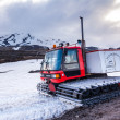 Stock Photo: All terrain vehicle with continuous tracks in snow