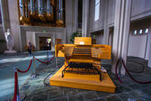 Pedals and stops for the organ in Hallgrimskirkja — Stock Photo