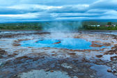 Geyser Strokkur in Icelan — Stock Photo