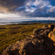 Stock Photo: Exposed ridge of igneous basalt rock in Iceland