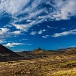 Volcanic stony barren mountain peak from Iceland — Stok fotoğraf #40321029