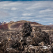 Stock Photo: Interesting igneous rock formations in Iceland