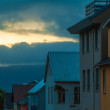 Evening street scene in Reykjavik, Iceland — Stock Photo #40321331