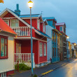 Evening street scene in Reykjavik, Iceland — Stock Photo #40321341