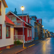 Evening street scene in Reykjavik, Iceland — Stock Photo #40321345