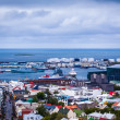 Harbour and port in Reykjavik, iceland — Stock Photo