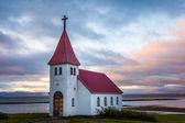 Christian church from Iceland, under a cloudy sky — Stock Photo