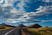 Empty road in a volcanic landscape in Iceland — Stock Photo