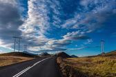 Empty tarred road — Stock Photo