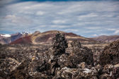 Interesting igneous rock formations in Iceland — Stock Photo