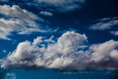 Dark clouds and blue sky — Stock Photo