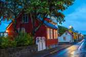 Evening street scene in Reykjavik, Iceland — Stock Photo