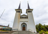 Entrance to a church in Reykjavik, Iceland — Stock Photo