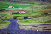 Road leading to a rural farm in Iceland — Stock Photo