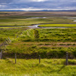 Stock Photo: Iceland landscape with meandering rivers