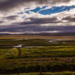 Iceland landscape with meandering rivers — Stock Photo #40723023
