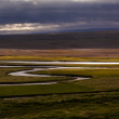 Iceland landscape with meandering rivers — Stock Photo #40723041