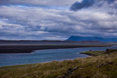 Landscape with a meandering river — Stock Photo