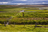 Iceland landscape with meandering rivers — Stock Photo