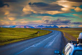 Traveling by car in Iceland — Stock Photo