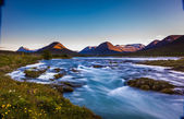 Fast flowing river in Iceland — Stock Photo