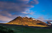 Cones of extinct volcanoes in Iceland — Stock Photo
