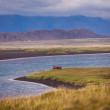 Stock Photo: Meandering river in Iceland