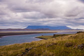 Meandering river in Iceland — Stock Photo