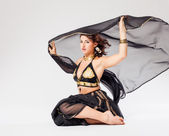 Woman in belly-dance costume — Stock Photo