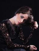 Attractive brunette woman — Stock Photo