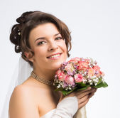Bride with bridal bouquet — Stock Photo