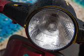 Scooter headlamp — Stock Photo