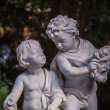 Statue of Two Boys Talking — Stock Photo #48682653
