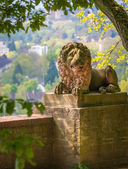 Stone sculpture of a lion — Stock Photo