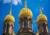 Golden cupola of St Elizabeths Church — Stock Photo