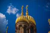 Golden metal cupolas — Stock Photo