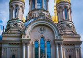 Golden cupolas on St Elizabeths church — Foto Stock