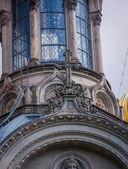Golden cupolas on St Elizabeths church — Stock Photo