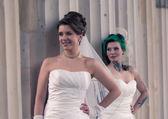Two brides — Stock Photo