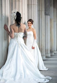 Two brides flirting — Stock Photo