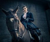 乗馬女性 — ストック写真
