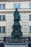 Monument of Charles IV in Prague — Stock Photo