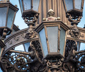Lantern at the Rudolfinum in Prague — Stock Photo