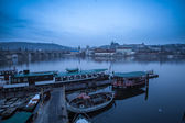 Charles Bridge early in the morning — Stock Photo