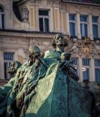 Jan Hus monument in Prague — Stock Photo