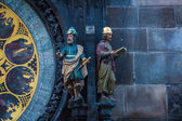 Medieval Astronomical Clock — Stockfoto