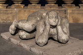 Lying sculpture — Stock Photo